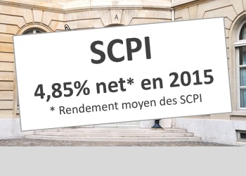 SCPI de rendement : 4,85% net en 2015